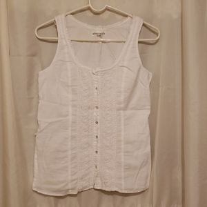 Aeropostale  white sleeveless blouse sz, S/P